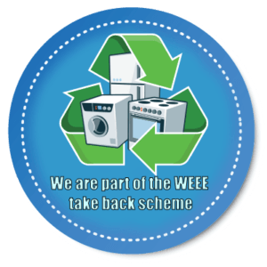 part of the waste electrical or electronic equipment take back scheme sticker